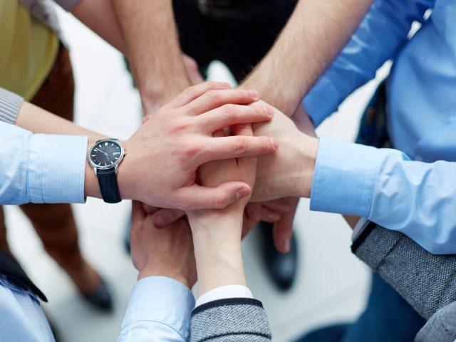 Hands teamwork business